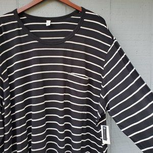 BP Striped Long Sleeve Top NWT Boxy Size 4X Plus